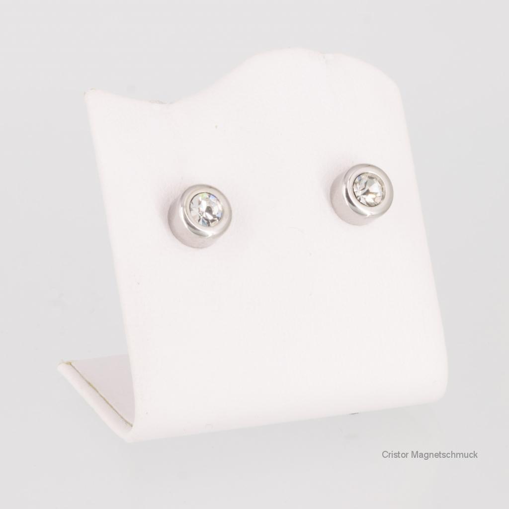 8251SZSet - Magnetschmuckset bicolor mit weißen Zirkonia