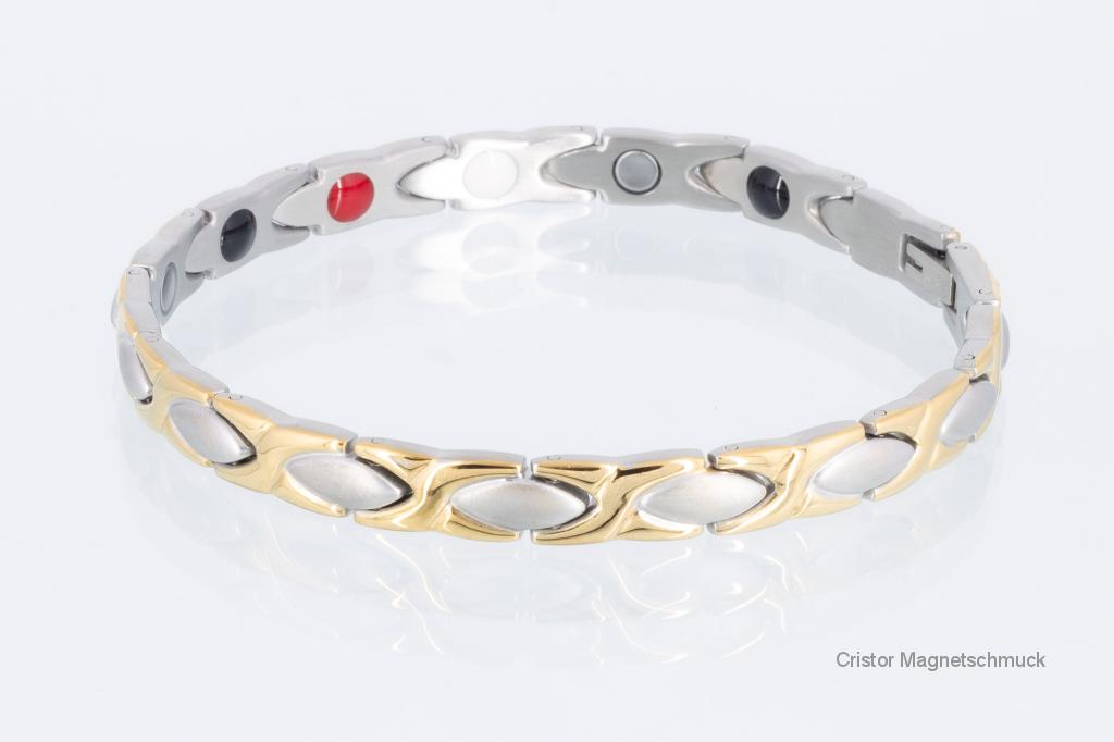 E8011B - 4-Elemente Armband bicolor