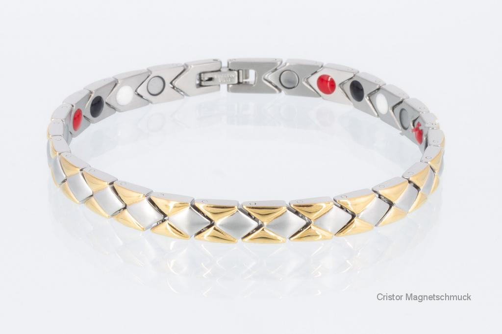 E8353B - 4-Elemente Armband bicolor