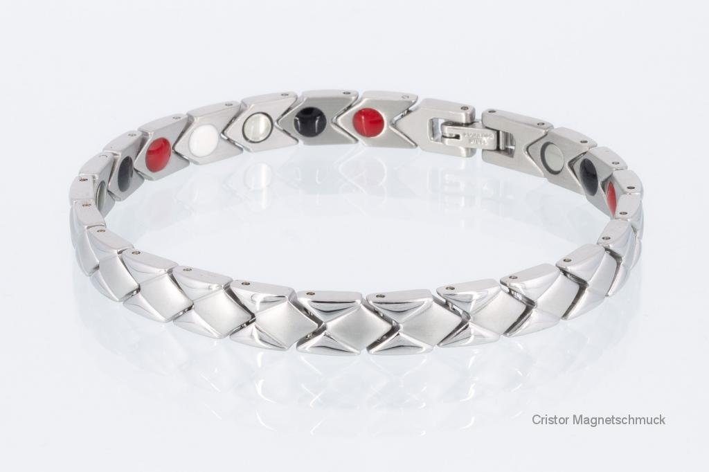 E8353S - 4-Elemente Armband silberfarben