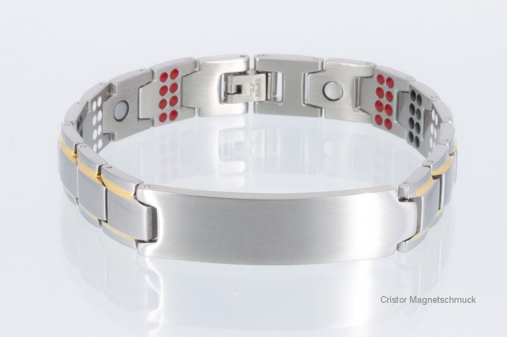 E8354Be - 4-Elemente Armband bicolor mit extravielen Einlagen