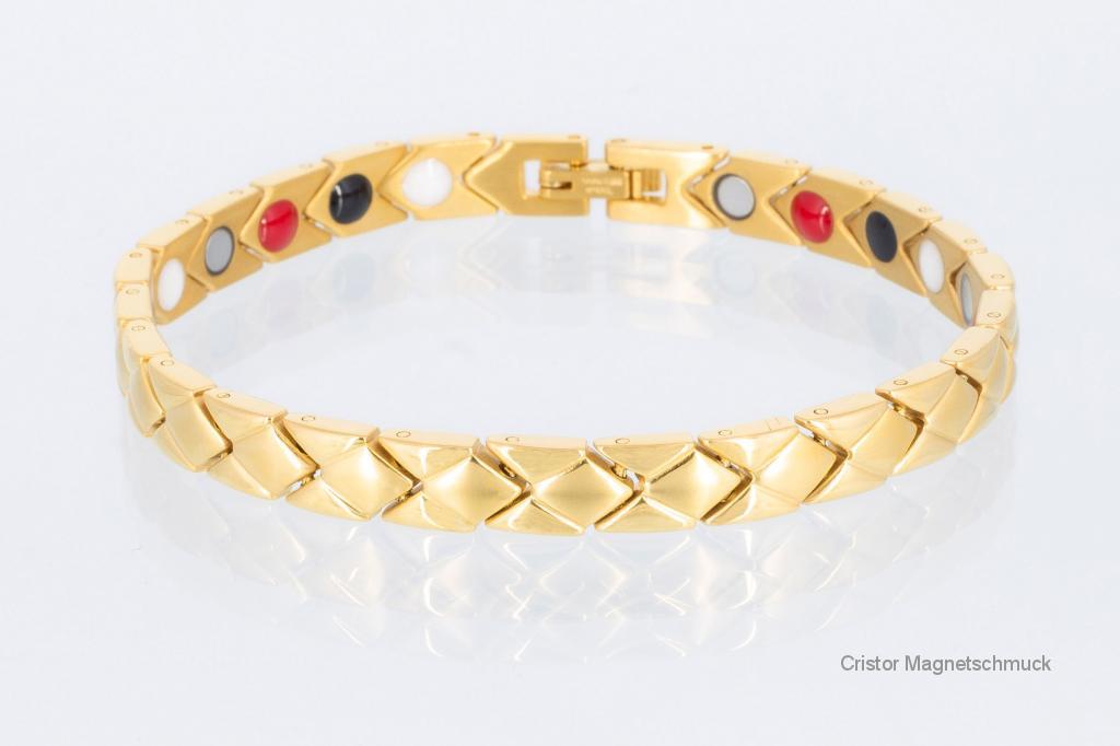 E8353G - 4-Elemente Armband goldfarben
