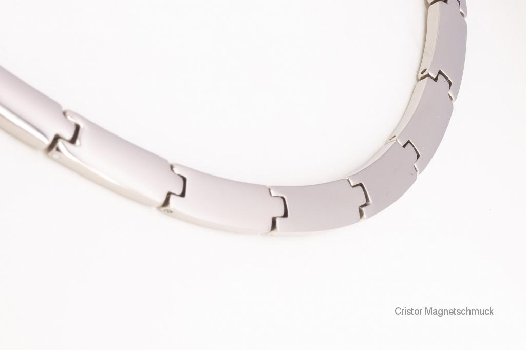 HTE9074S2 - Titan-4-Elemente Halskette silberfarben