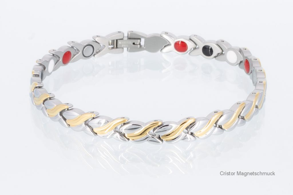 E8333B2 - 4-Elemente Armband bicolor