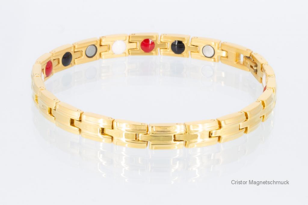 E8146G2 - 4-Elemente Armband goldfarben