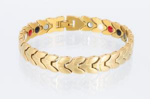 E8206G - 4-Elemente Armband goldfarben