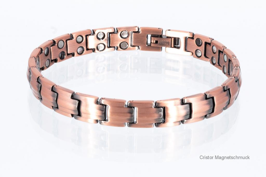 CU8378 - Doppelreihiges Kupfer - Magnetarmband