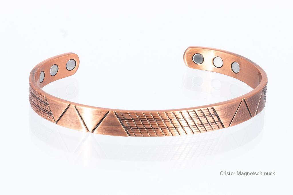 CU8367Set - Magnetschmuckset aus Kupfer