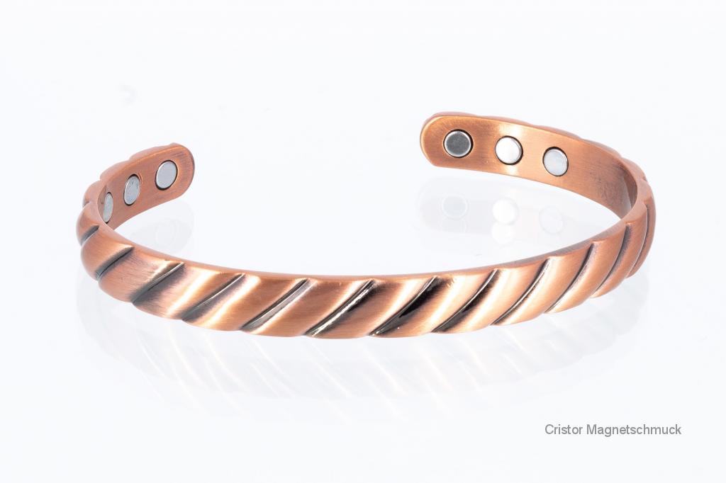 CU8369Set - Magnetschmuckset aus Kupfer
