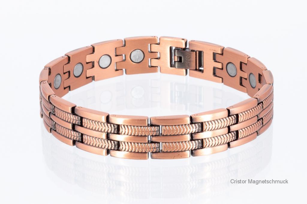 CU8327P - Kupfer Magnetarmbänder als Partnerset