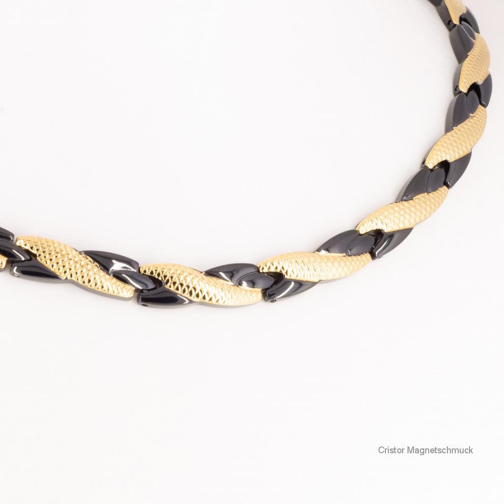 H9059BLGSet - Halskette und Armband im Set schwarz gold