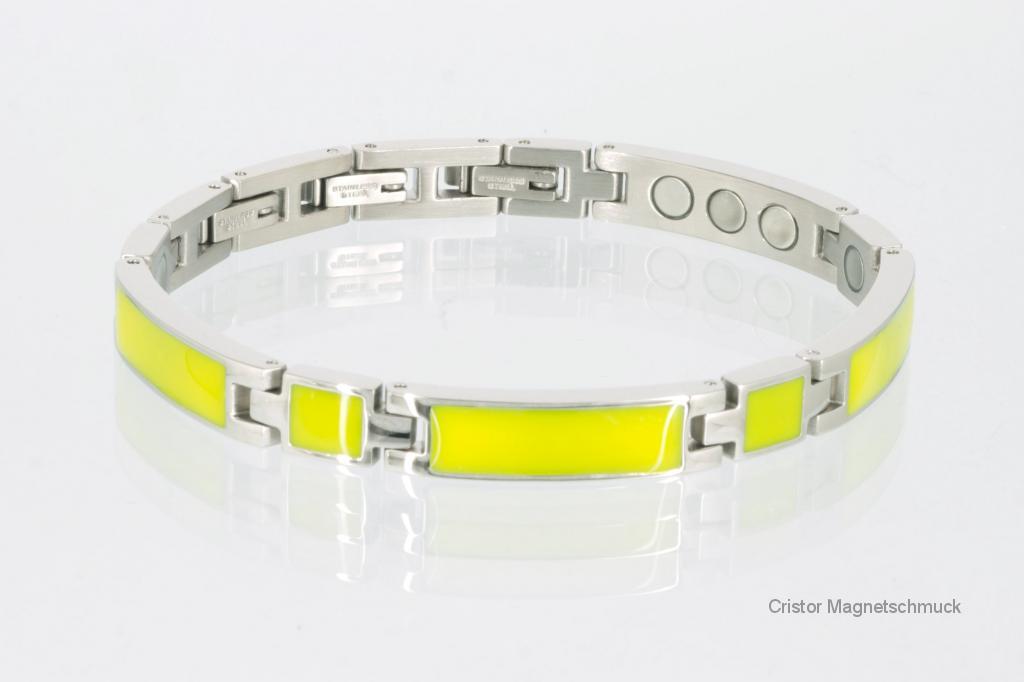 8287ScSet - Magnetschmuckset silberfarben gelb
