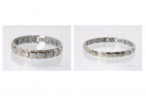 Magnetarmbänder als Partnerset bicolor mit extra-starken Magneten - 8262b4p