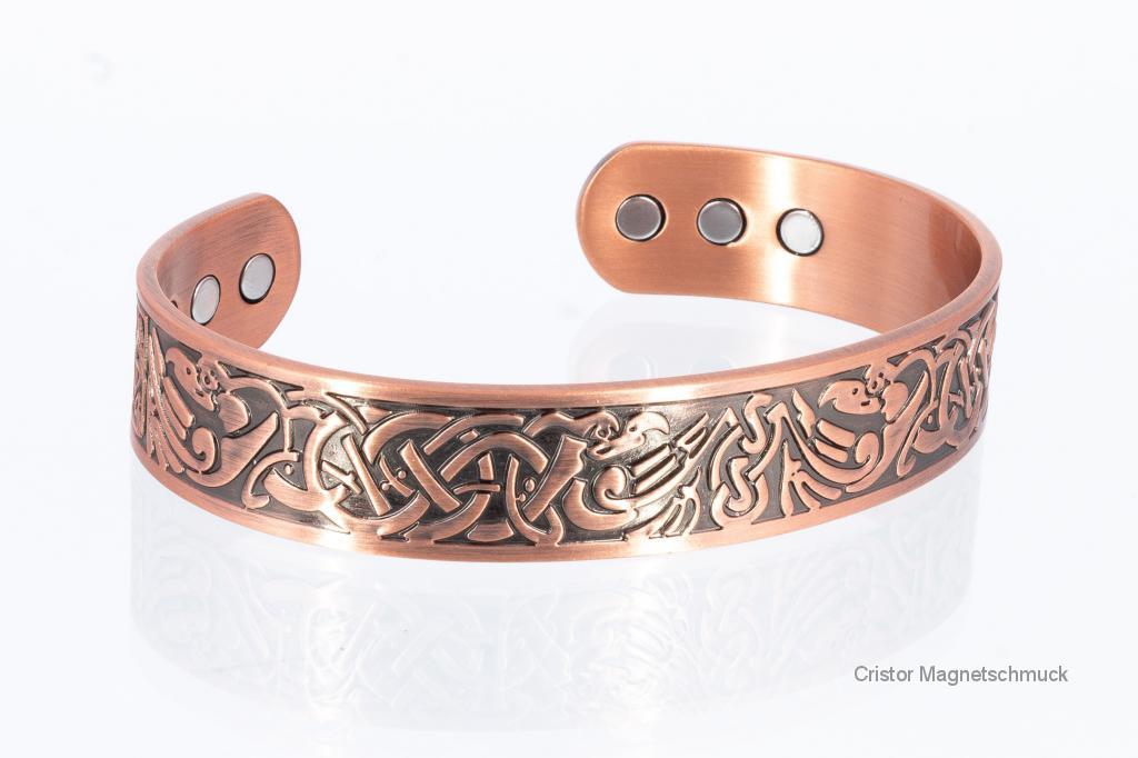 CU8375 - Kupfer-Magnetarmreif mit wunderschönen Ornamenten