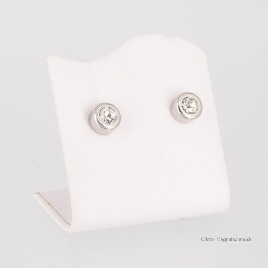 E8294SZSet - Energiearmband und Ohrringe im Set silberfarben mit Zirkonia