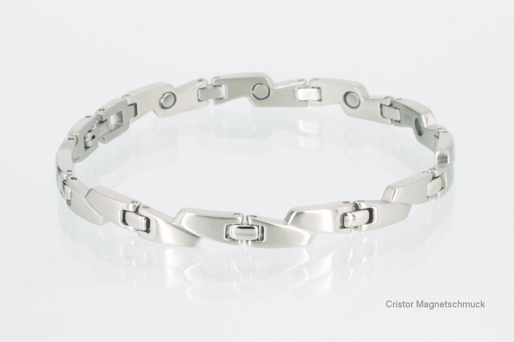 8214S - Magnetarmband silberfarben