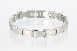 8095S - Magnetarmband silberfarben