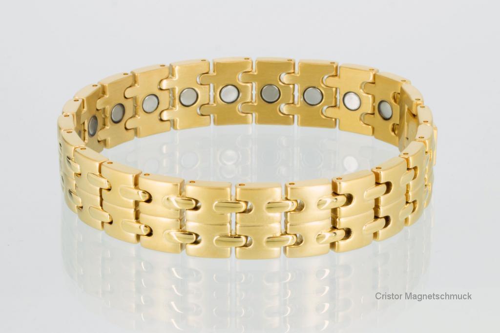 8008G - Magnetarmband goldfarben