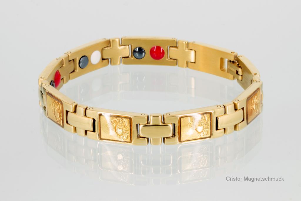 TE8301G - Titan-Energiearmband goldfarben