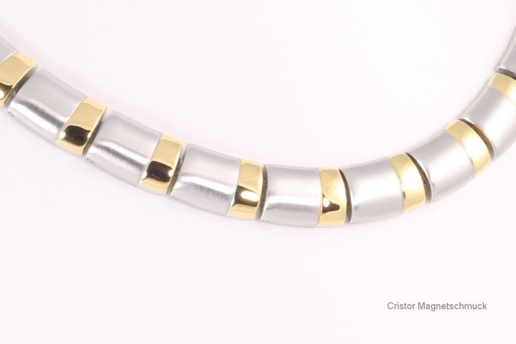 HE9096B - 5-Elemente Halskette bicolor