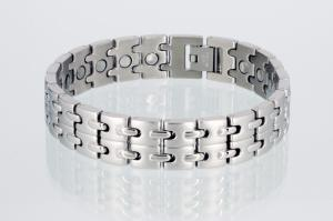 8008S - Magnetarmband silberfarben