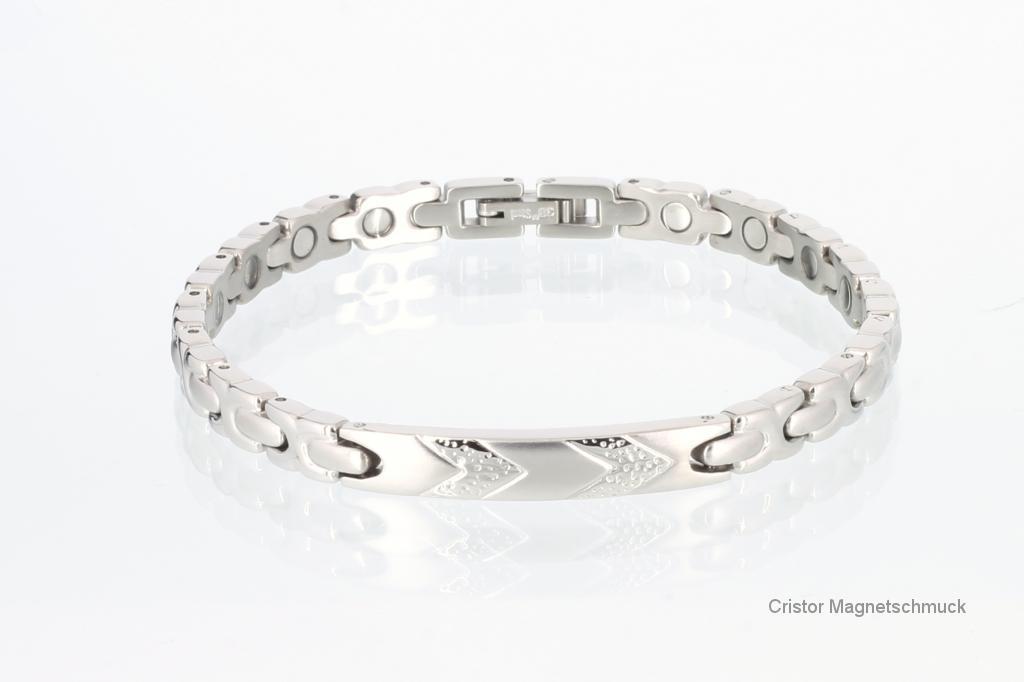 8149S - Magnetarmband silberfarben