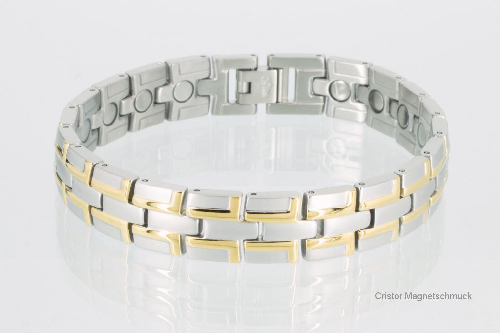 8035BP - Magnetarmbänder als Partnerset bicolor