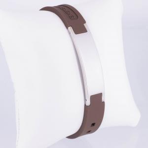 Energiearmband in silber braun - kebr9020s
