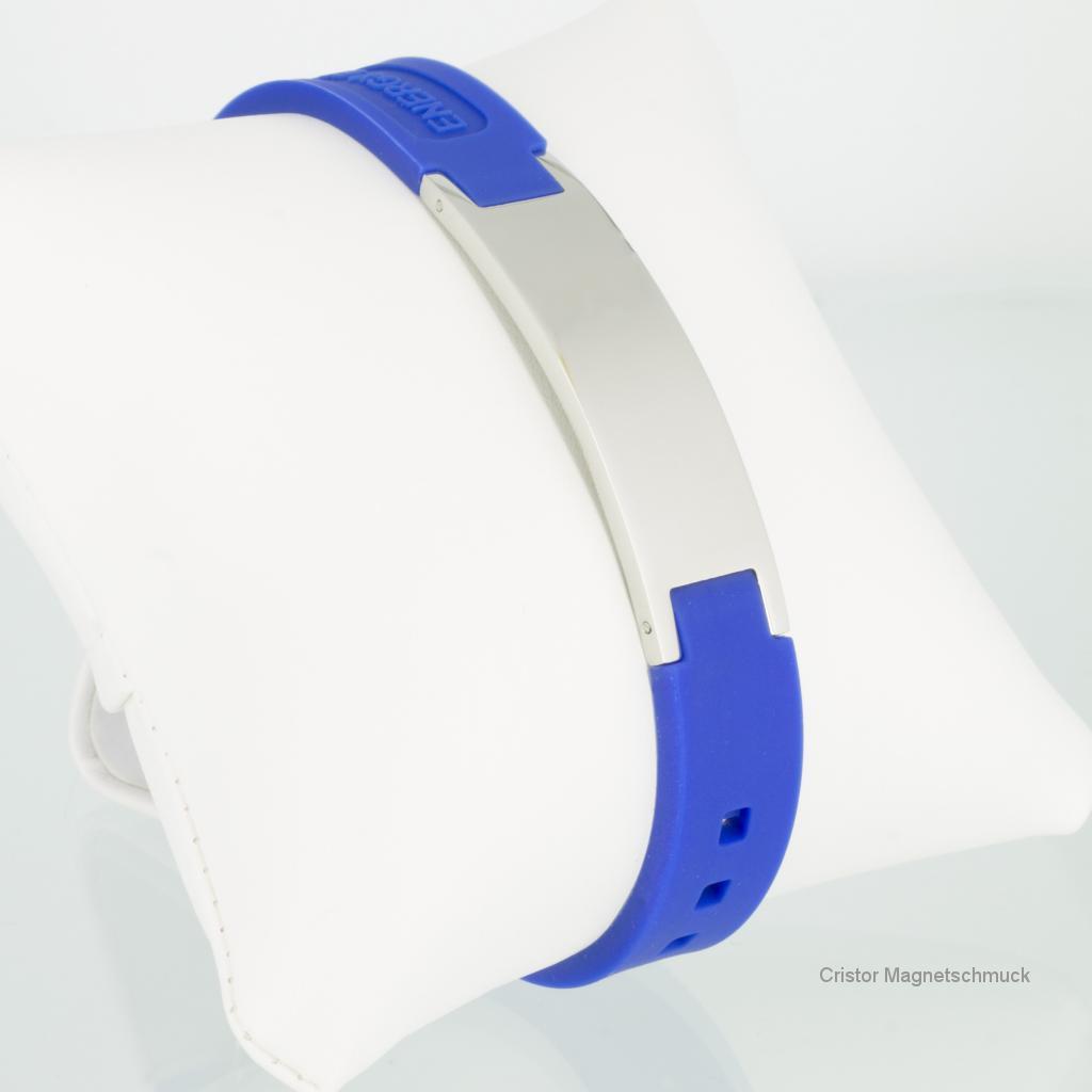 KEB9020S - Energiearmband in silber blau