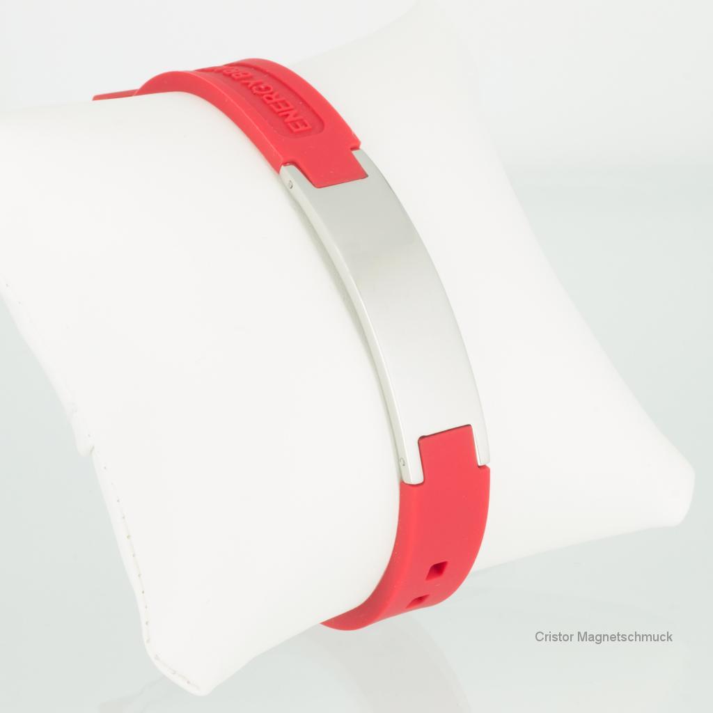 KER9020S - Energiearmband in silber rot