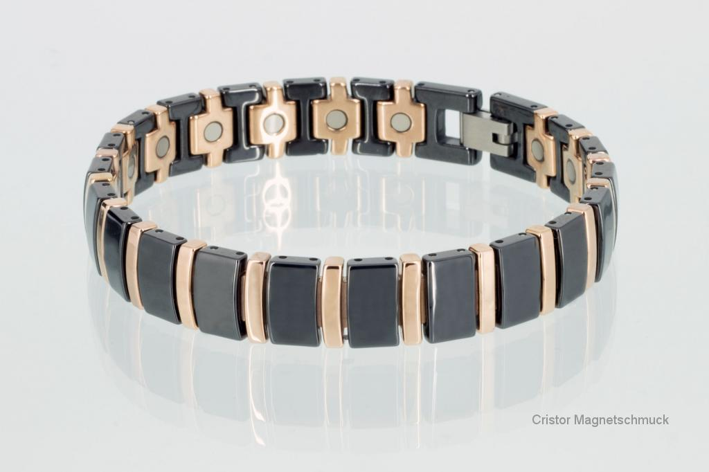 C8182BLRG - Ceramik-Magnetarmband schwarz