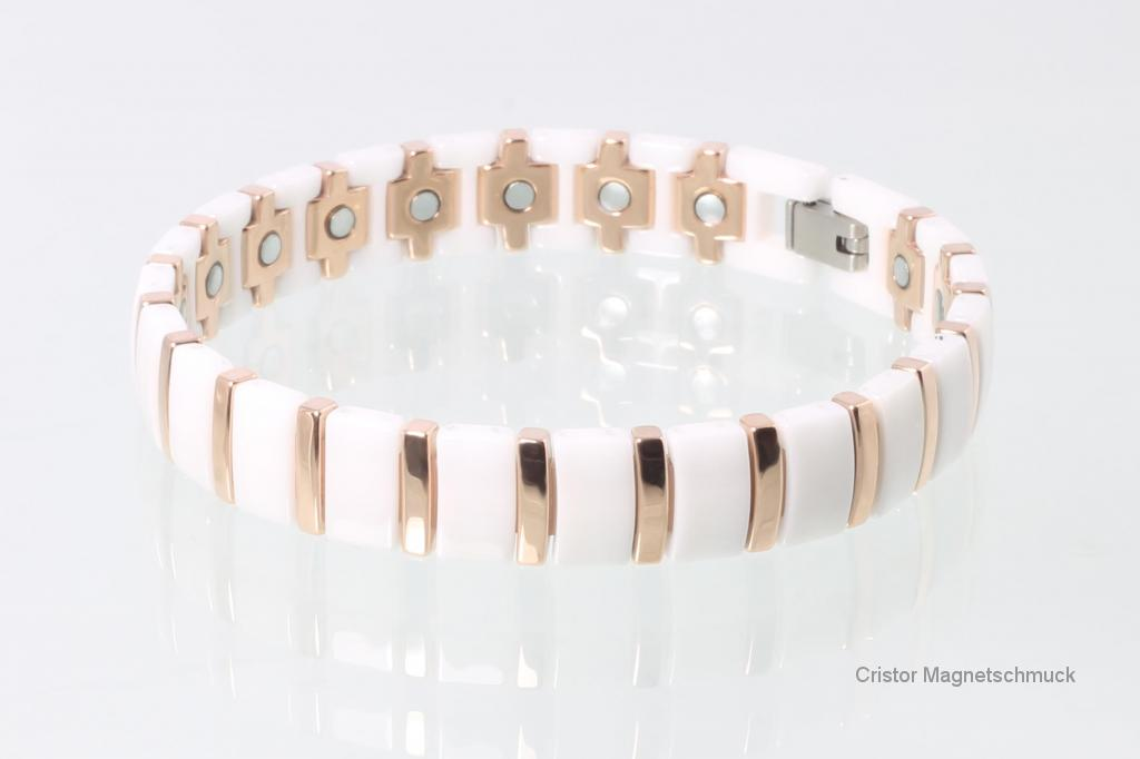 C8182WRG - Ceramik-Magnetarmband weiß
