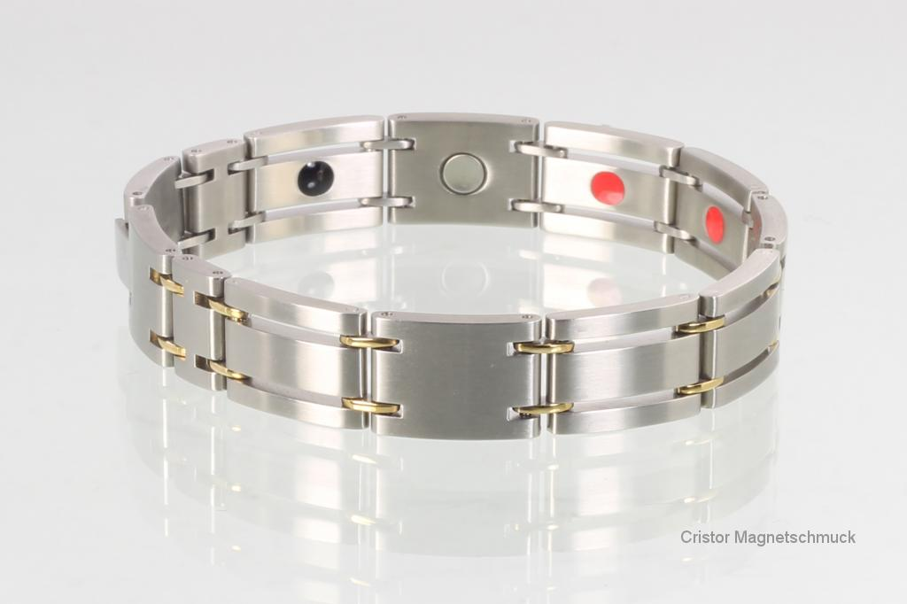 E8255B - 4-Elemente Armband bicolor