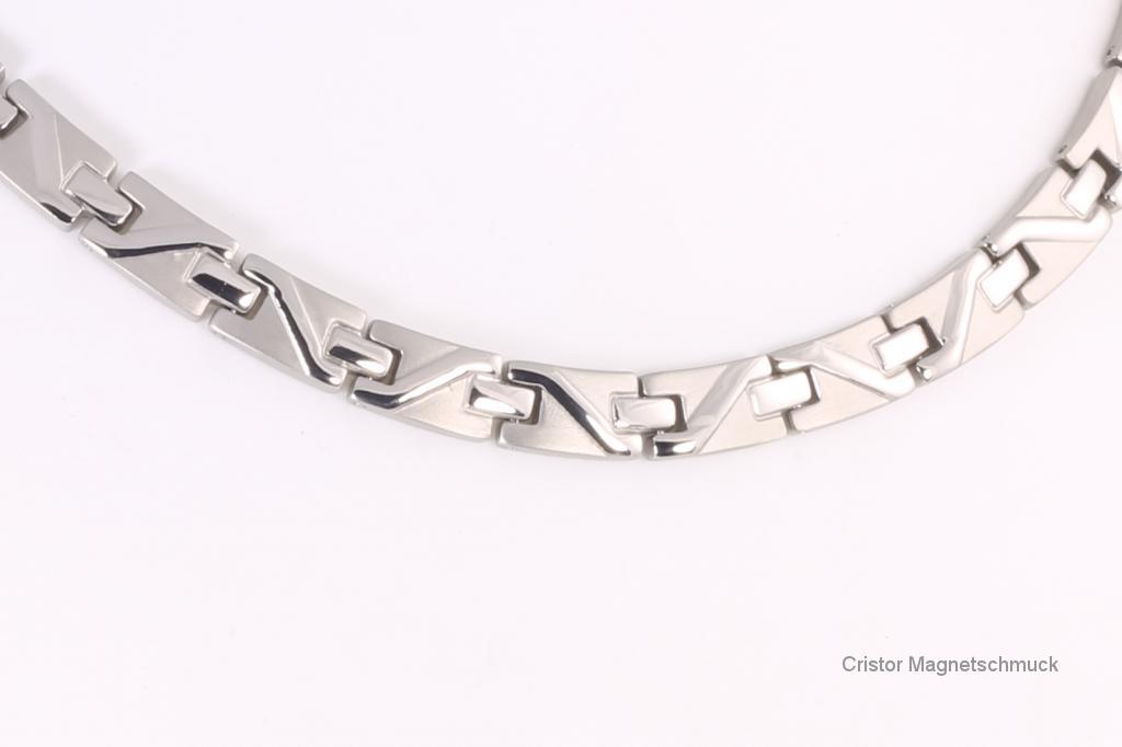 HTE9002S - Titan-4-Elemente Halskette silberfarben