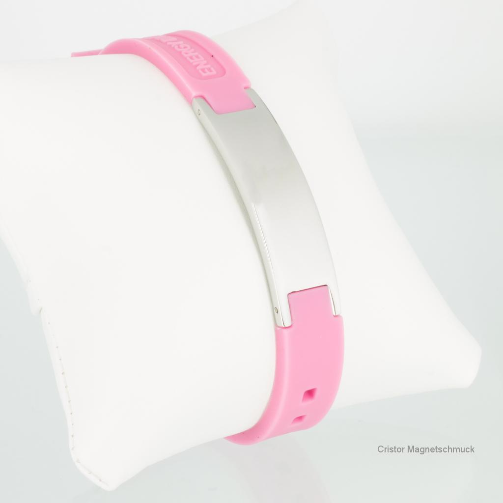KEP9020S - Energiearmband in silber pink