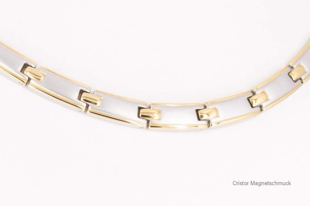 HE9029B - 5-Elemente Halskette bicolor
