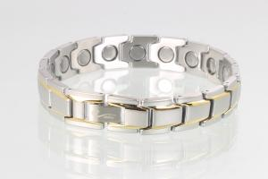8262B4 - Magnetarmband bicolor mit extra-starken Magneten