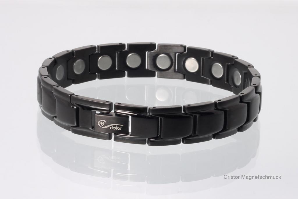 8262BL4 - Magnetarmband schwarz mit extra-starken Magneten