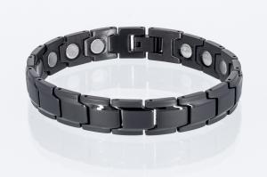 Magnetarmband schwarz mit extra-starken Magneten - 8262bl4