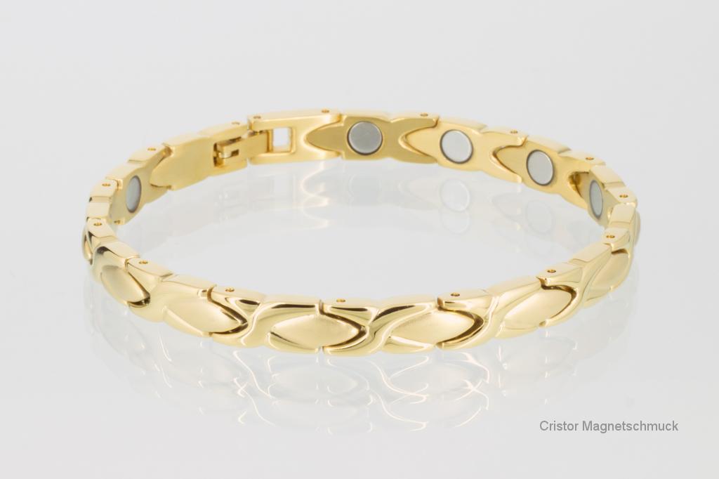8011G - Magnetarmband goldfarben