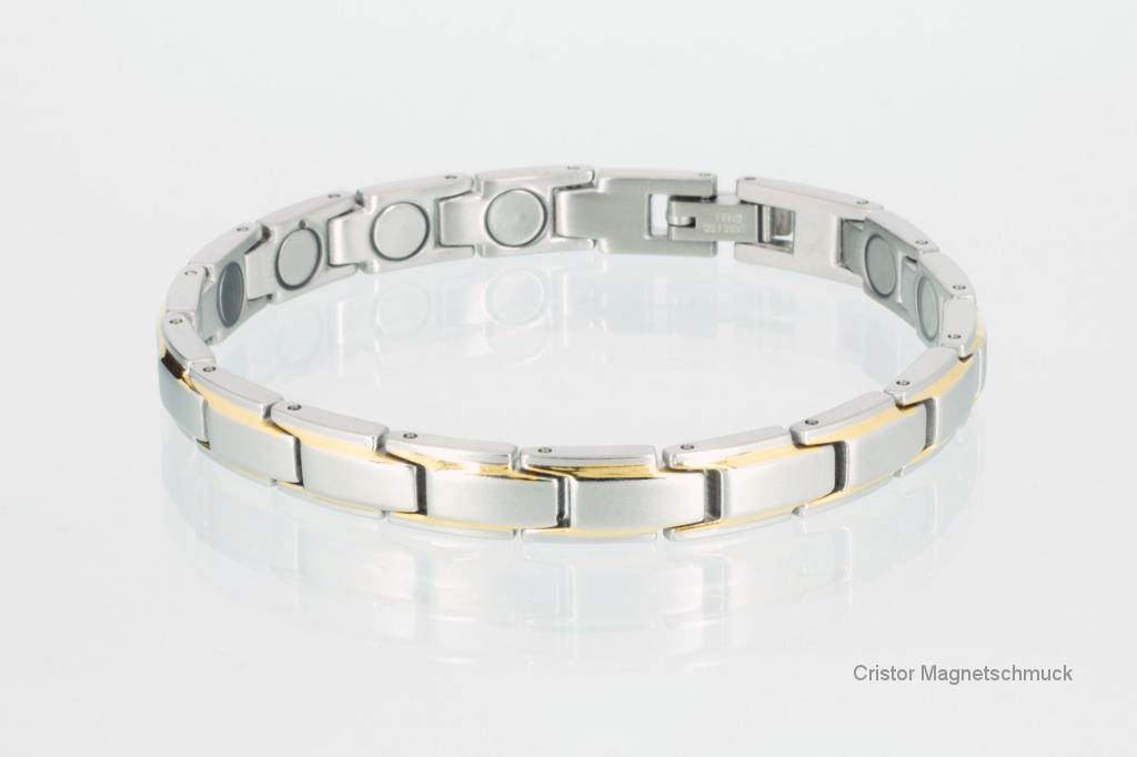 8368B4 - Magnetarmband bicolor mit extra-starken Magneten