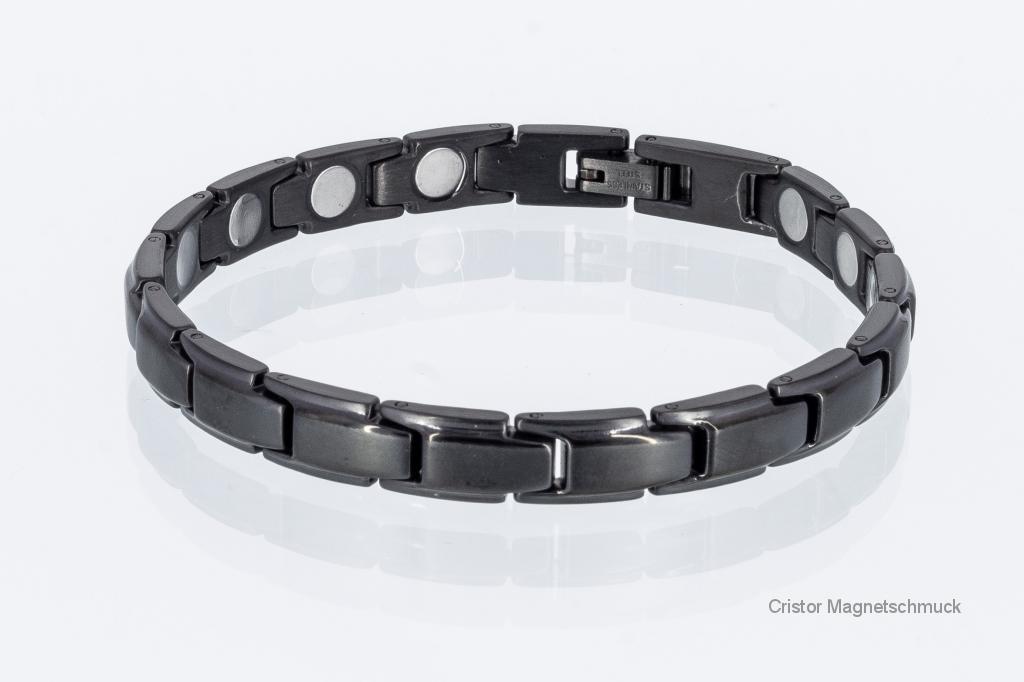 8368BL4 - Magnetarmband schwarz mit extra-starken Magneten