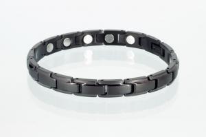 Magnetarmband schwarz mit extra-starken Magneten - 8368bl4