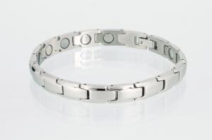 8368S4 - Magnetarmband silberfarben mit extra-starken Magneten
